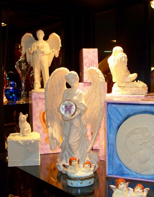 Angel Statues, pill boxes